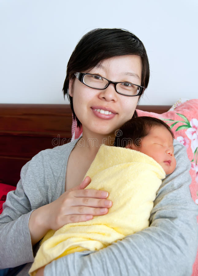 The newborn infant royalty free stock image