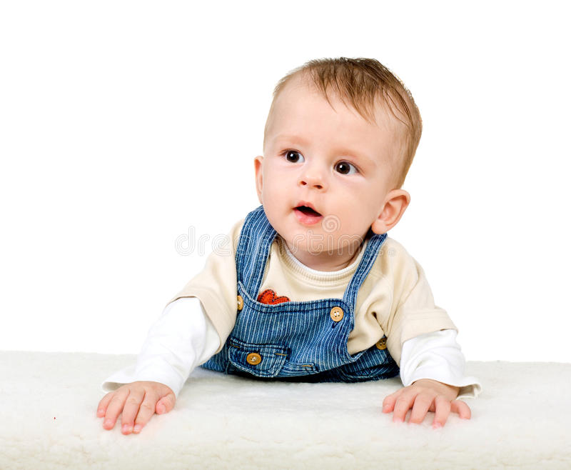 The newborn kid isolated royalty free stock image