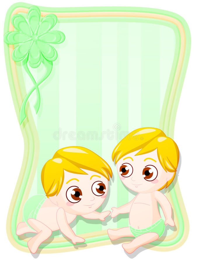 Download Newborn male twins stock illustration. Image of baby - 21857514