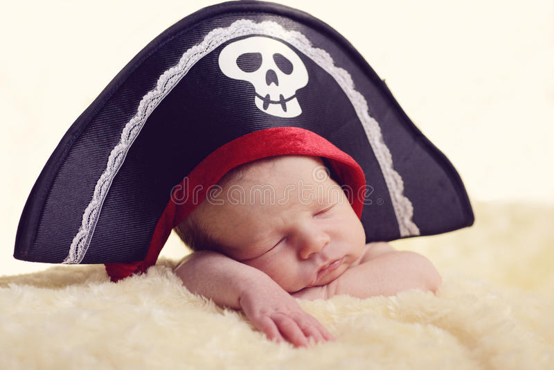 Newborn pirate royalty free stock images