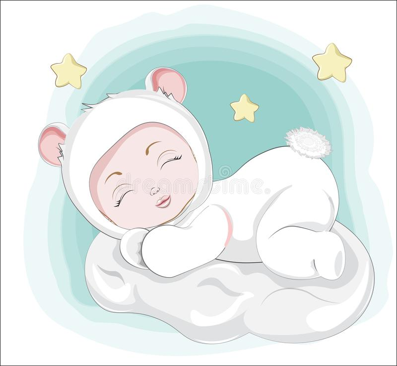 Newborn sleeping sweet little baby royalty free stock images