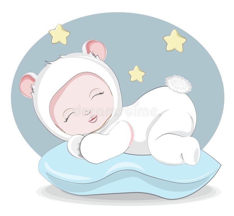 Newborn sleeping sweet little baby royalty free stock photos