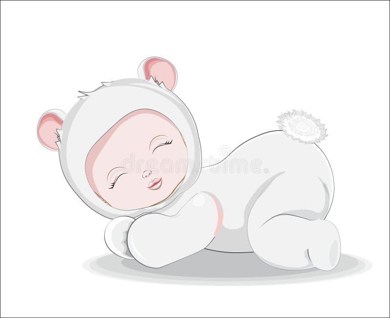 Newborn sleeping sweet little baby stock photos