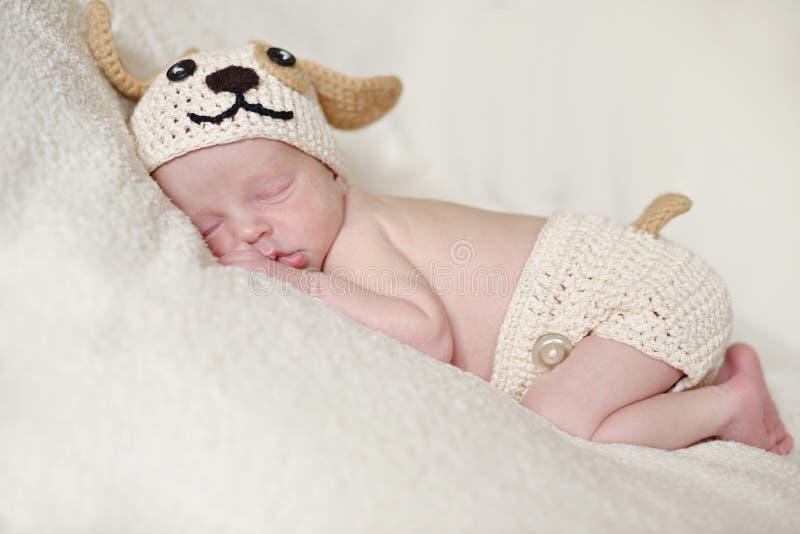 Newborns drömmar royaltyfri foto
