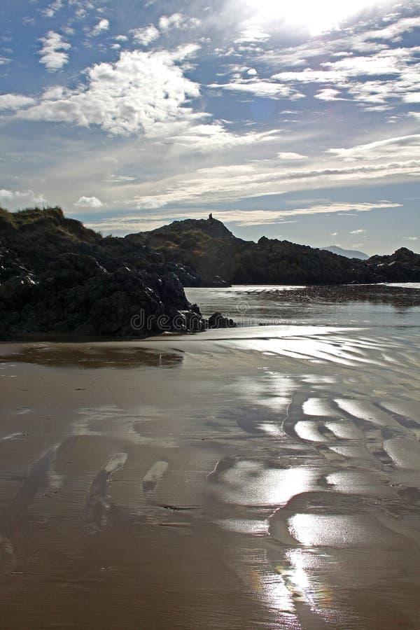 Newborough plaża, Anglesey, Walia obraz royalty free