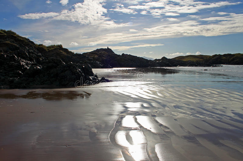 Newborough plaża, Anglesey, Walia fotografia stock