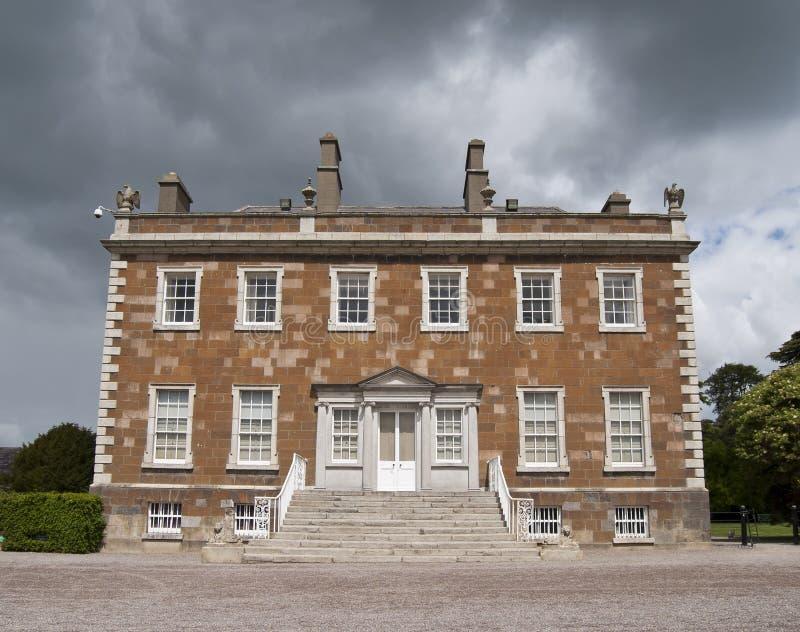 Newbridge demesne. Newbridge Georgian house north of Dublin in Ireland royalty free stock image