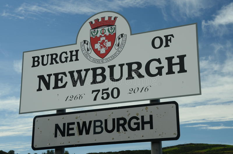 Newburgh. A view of the entrance sign to the Royal Burgh of Newburgh royalty free stock photo