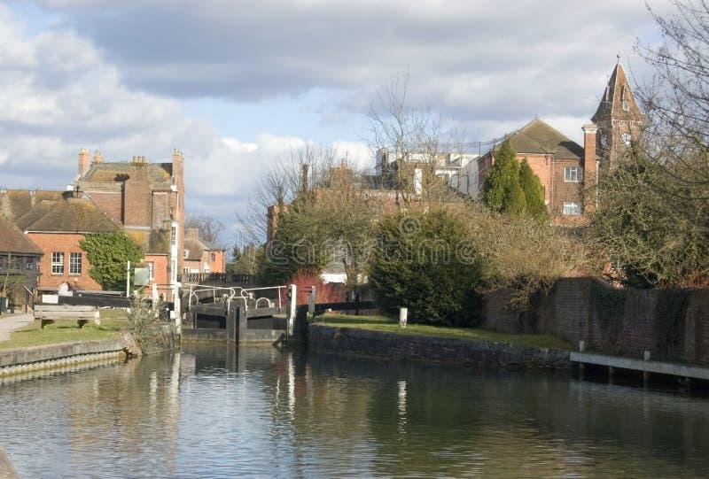 Download Newbury Lock, Berkshire stock image. Image of gate, river - 14111851