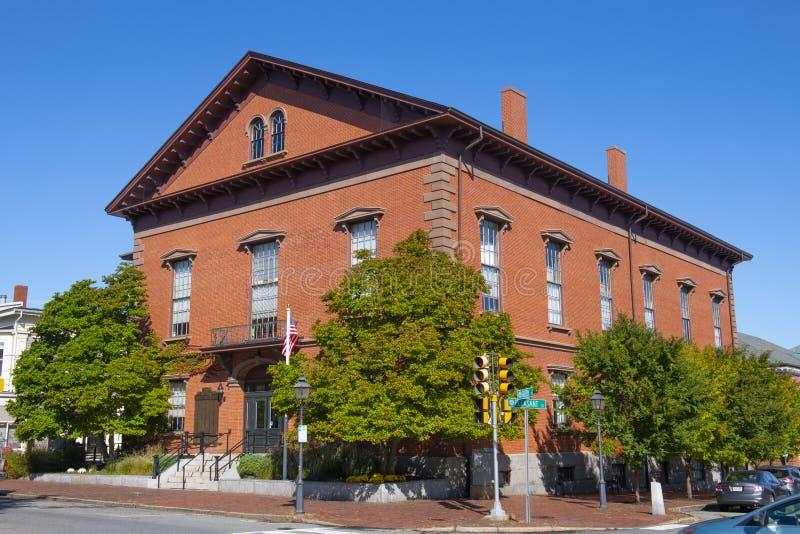 Newburyport City Hall, MA, Stany Zjednoczone Ameryki obraz stock