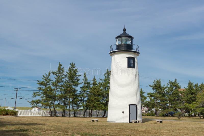 Newburyport fyr i Massachusetts royaltyfri bild