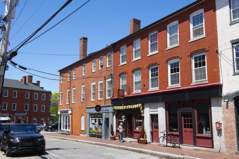 Newburyport historyczne centrum, MA, Stany Zjednoczone Ameryki fotografia royalty free
