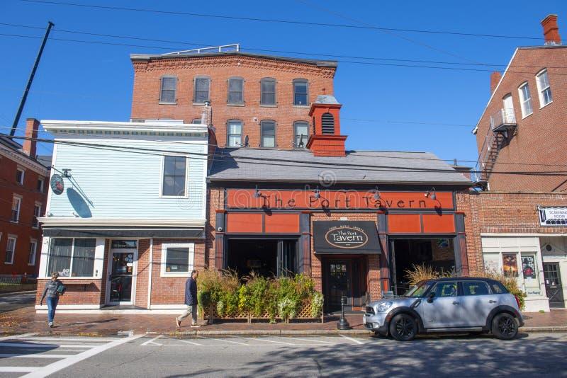 Newburyport historyczne centrum, MA, Stany Zjednoczone Ameryki zdjęcie royalty free