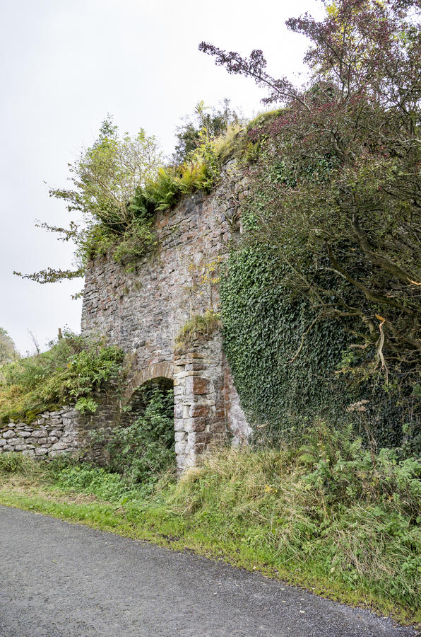 Newby Lime Kiln near Clitheroe. Disused and derelict lime kiln stock photos