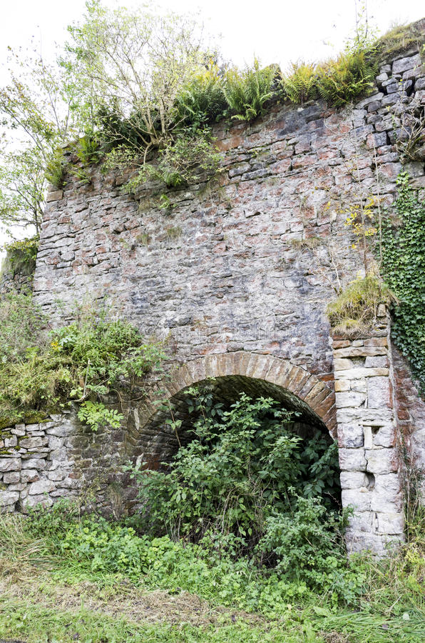 Newby Lime Kiln near Clitheroe. Disused and derelict lime kiln stock photo