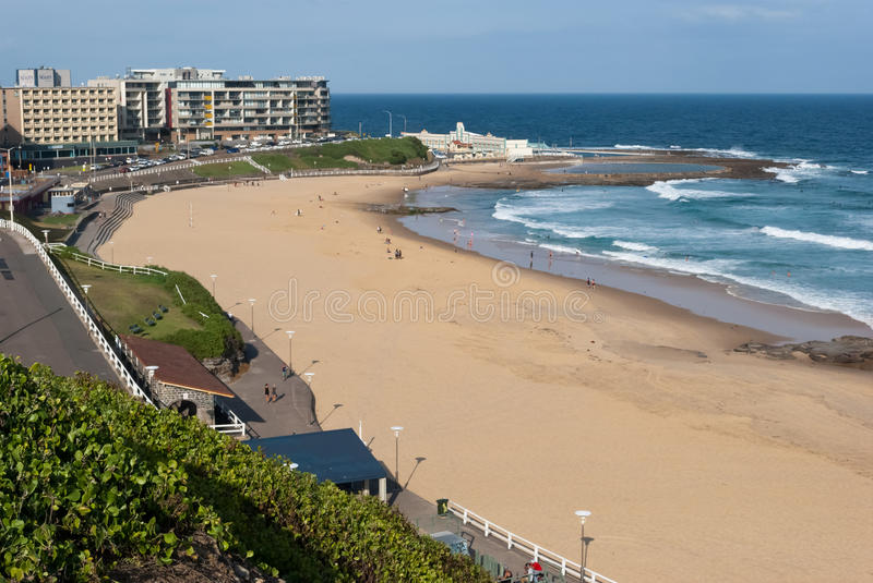 Download Newcastle beach, Australia stock image. Image of coast - 25513693