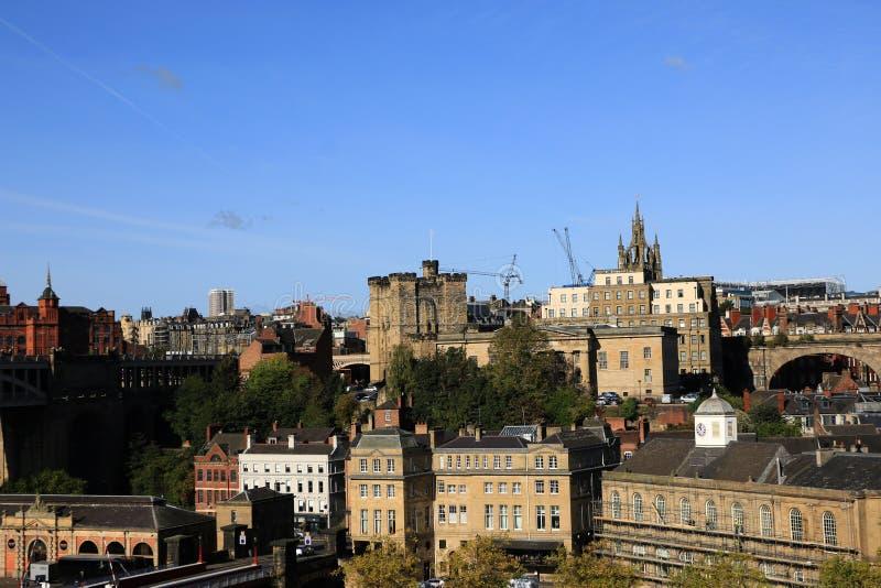 Newcastle Biuldings histórico imagens de stock