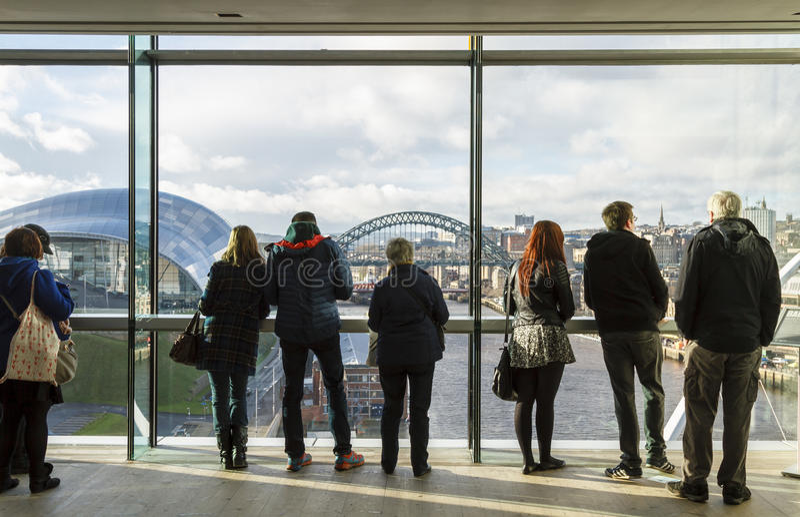 Newcastle Cityscape fotografering för bildbyråer