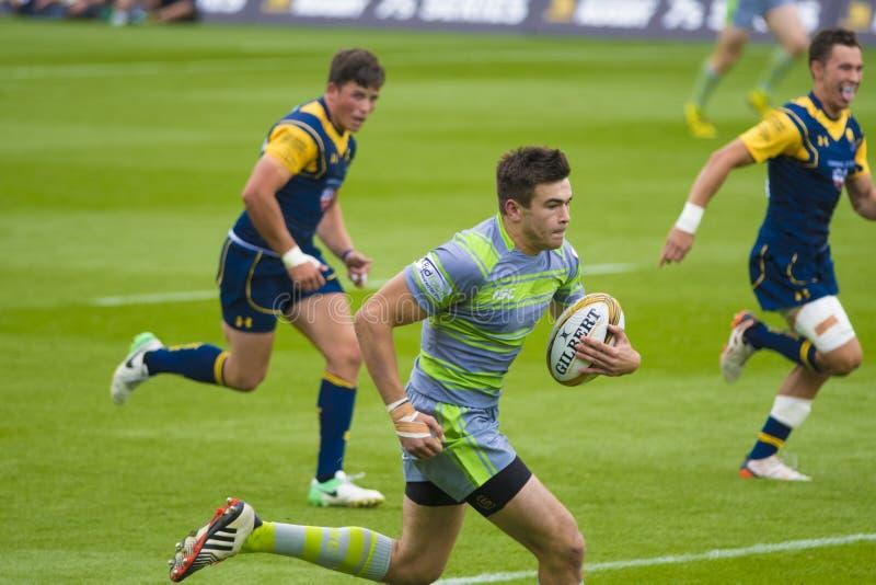 Newcastle-Falcons und Worcester-Kriegers-Rugby 7 S lizenzfreies stockbild