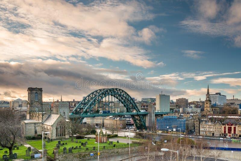 Newcastle horisont arkivbilder