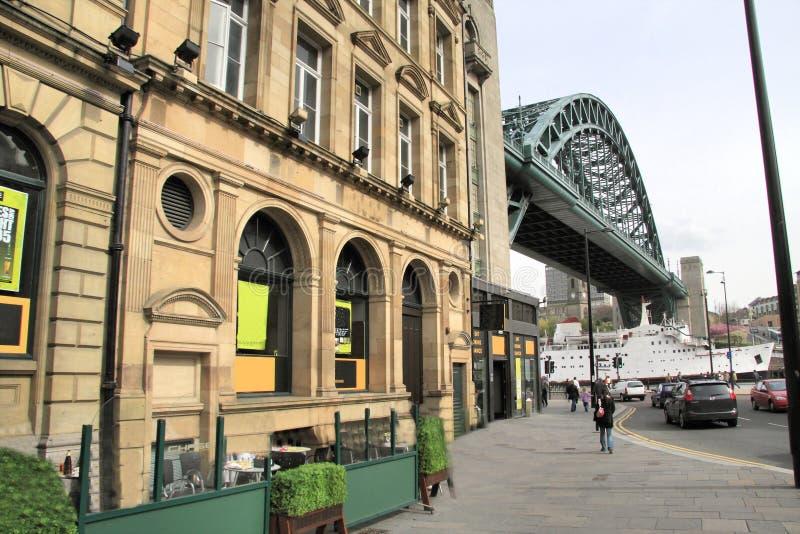 Newcastle-Kaianlagen lizenzfreie stockbilder