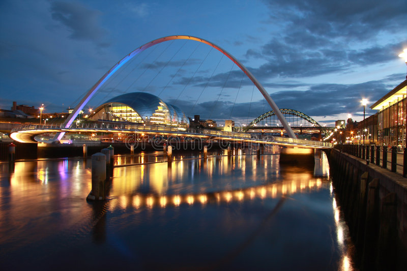 Newcastle-Kaianlagen stockfotografie