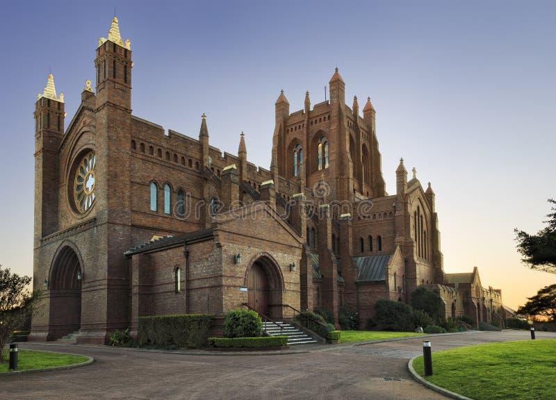Newcastle katedra zachodnia zdjęcia stock