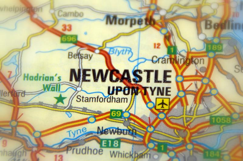 Newcastle na Tyne, znać jako Newcastle, Anglia, Europa - obraz stock