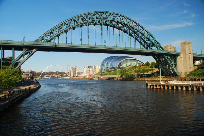 Newcastle nach Tyne, Brücken über dem Tyne-Fluss stockbild
