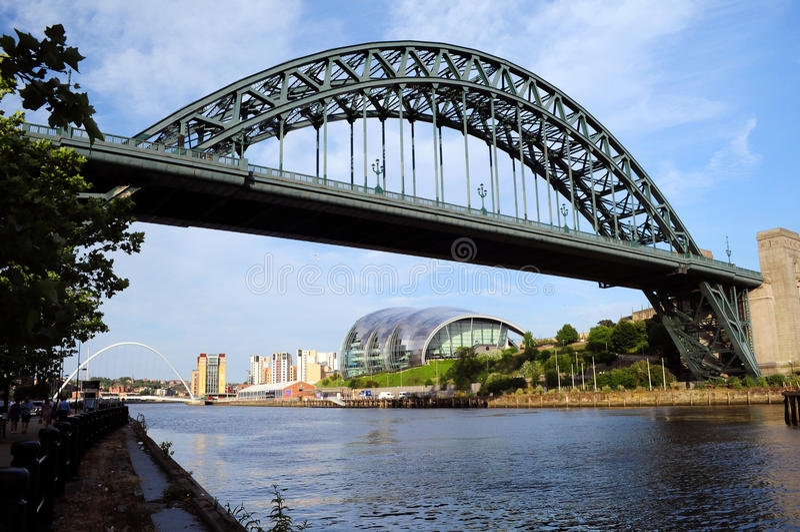 Newcastle op de Tyne stock fotografie