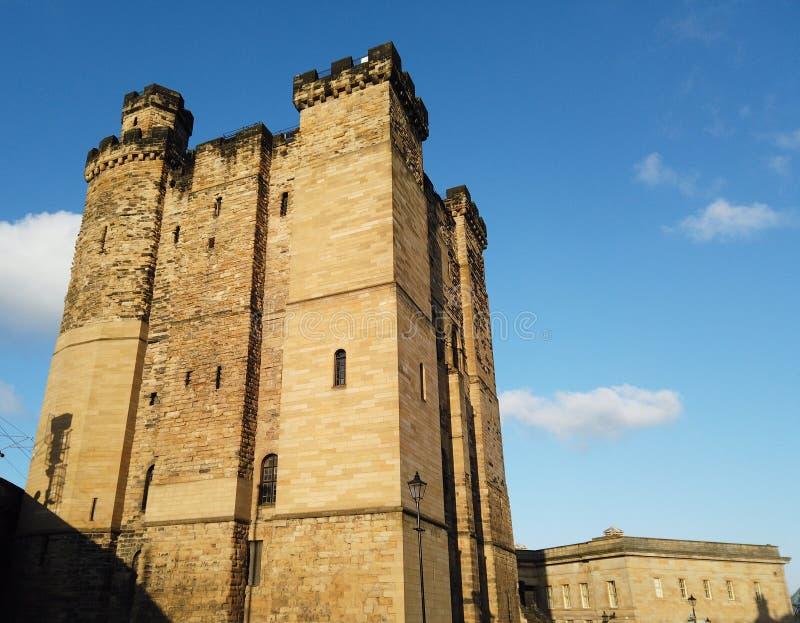 Newcastle op de Tyne, Engeland, het Verenigd Koninkrijk De buitenkant van het kasteel royalty-vrije stock afbeelding