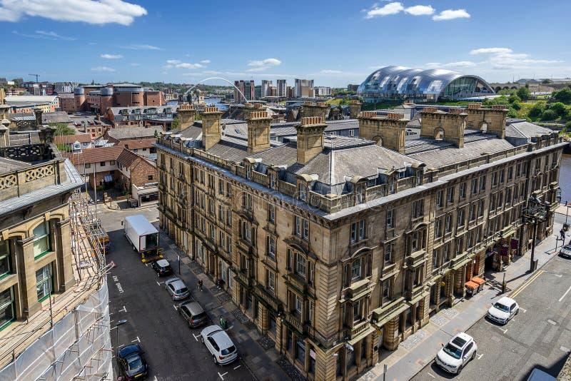 Newcastle op Tyne River royalty-vrije stock afbeeldingen