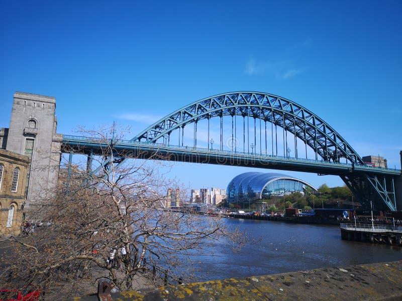 Newcastle på den Tyne kajen royaltyfri foto