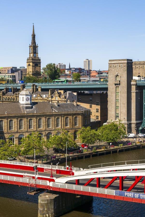 Newcastle på Tyne, Tyne och kläder, England royaltyfri foto