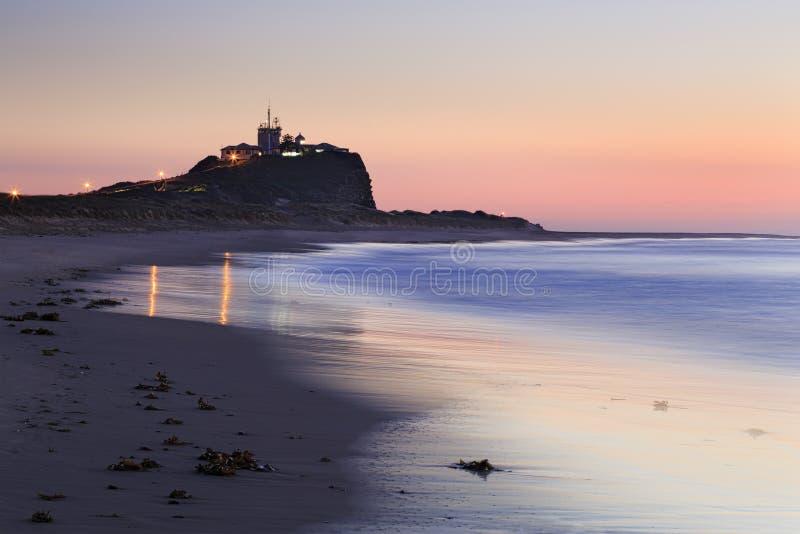 Newcastle plaży menchii zakończenie obrazy royalty free