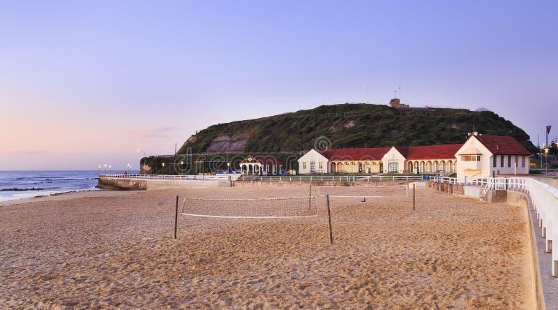 Newcastle plaży skąpania zdjęcie royalty free