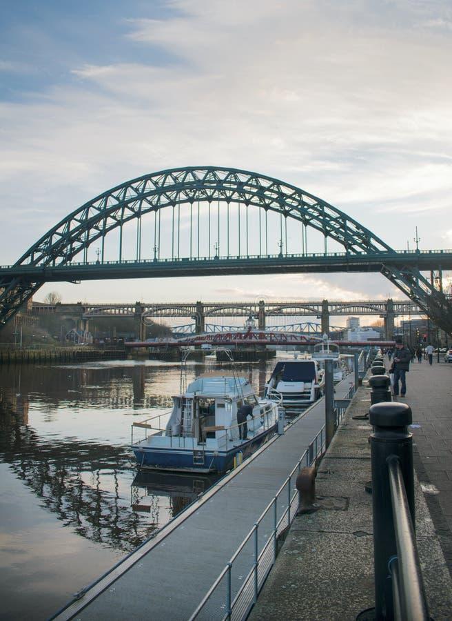 Newcastle sobre Tyne Bridge fotografía de archivo