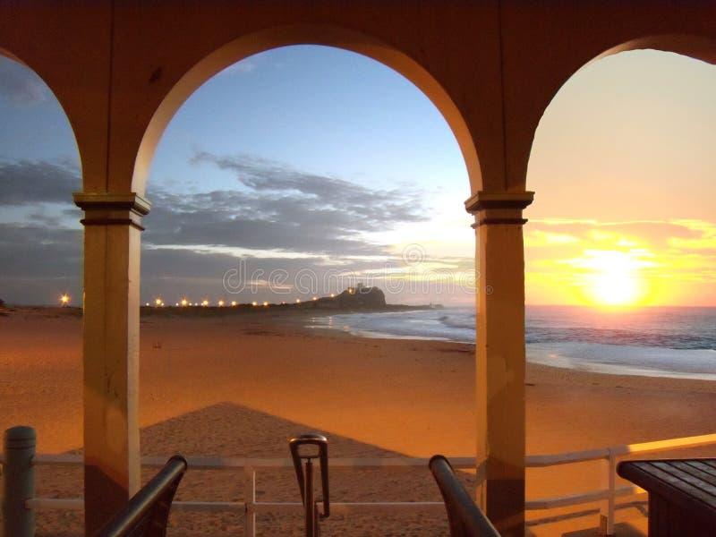 Newcastle-Sonnenaufgang lizenzfreie stockbilder