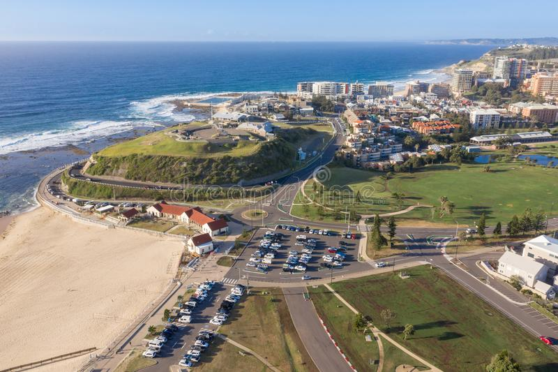 Newcastle - spiaggia Scratchley forte Newcastle NSW Australia di Nobby immagine stock libera da diritti