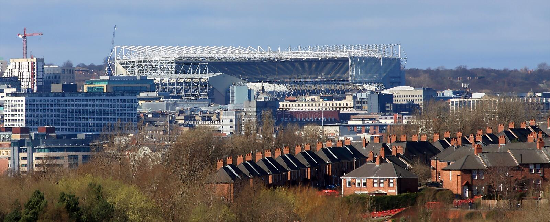 Newcastle stadion royaltyfri foto