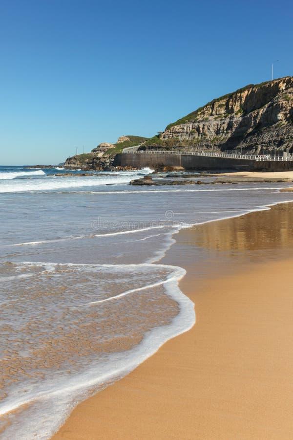 Newcastle Strand NSW Australien Fotografering för