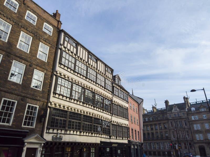 Newcastle sur Tyne, Angleterre, Royaume-Uni Les fa?ades des b?timents historiques au centre de la ville photo stock