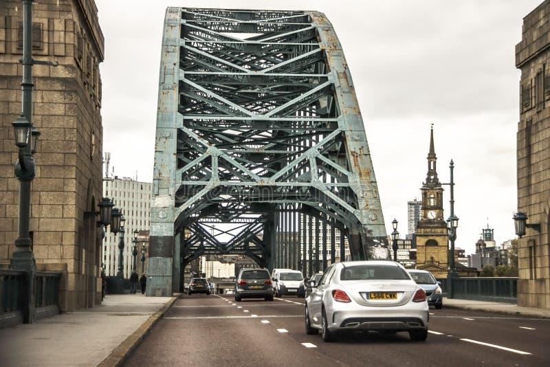 Newcastle sur Tyne en Angleterre, au Royaume-Uni et Tyne Bridge photos stock