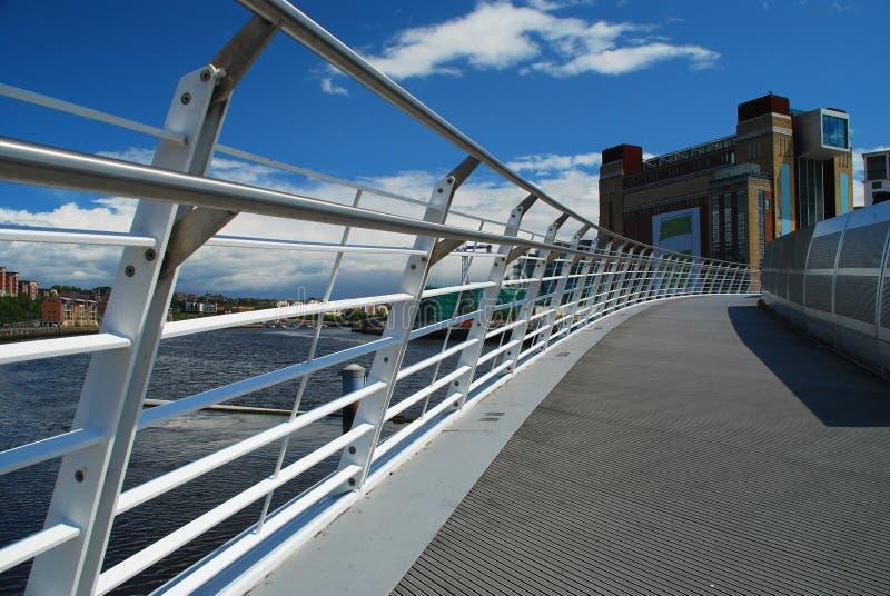 Newcastle sur Tyne, R-U. Passerelle de millénium image stock