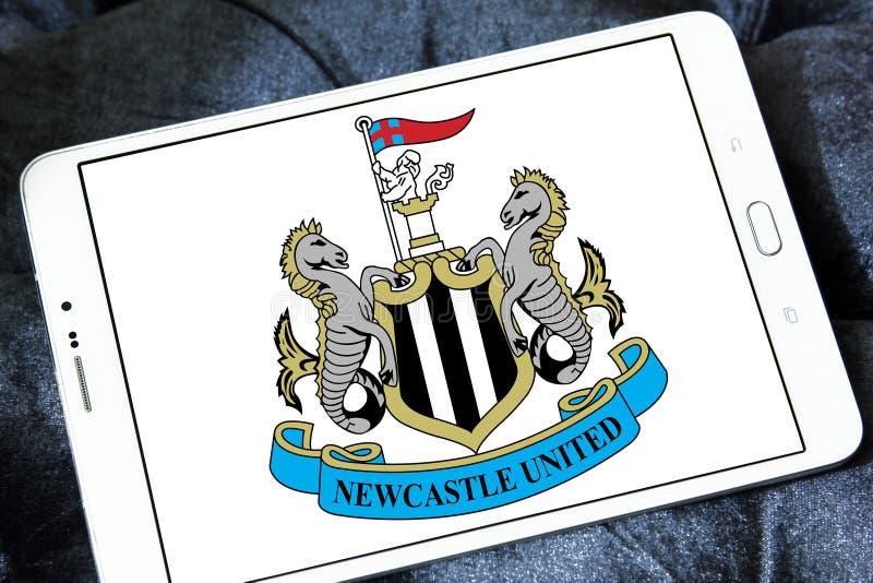 Newcastle United soccer club logo stock photography