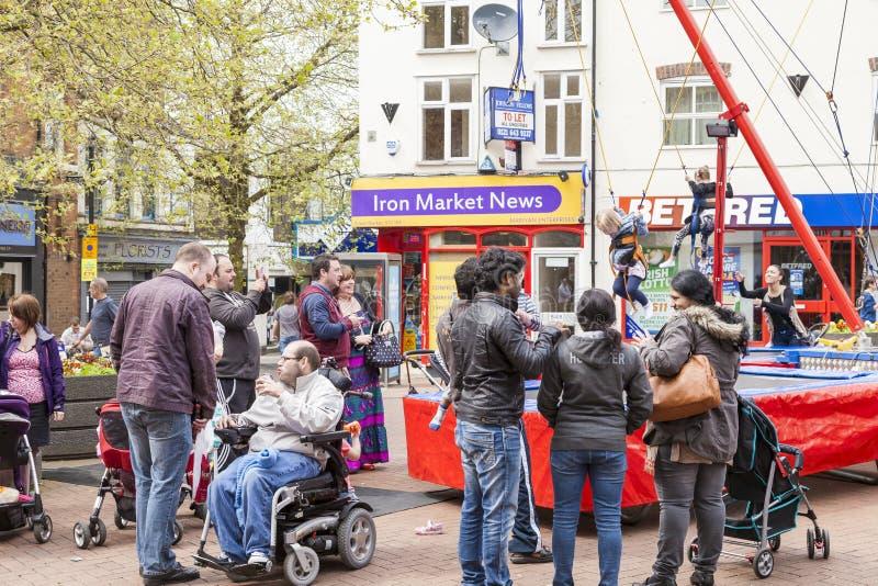 Newcastle unter Lyme, Lymelight Festiva stockbilder