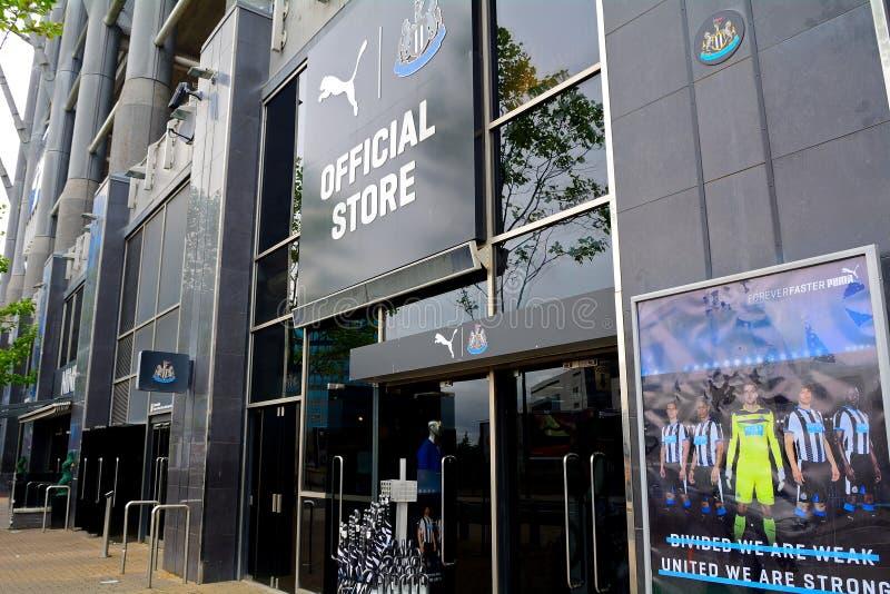 Newcsatle团结了正式商店,新堡,英国 库存照片