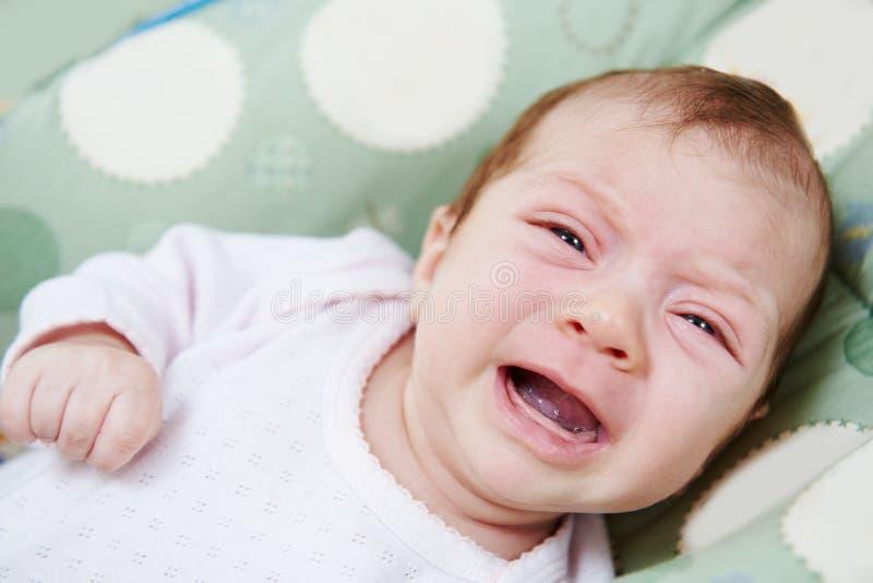 Neweborm baby crying royalty free stock photography