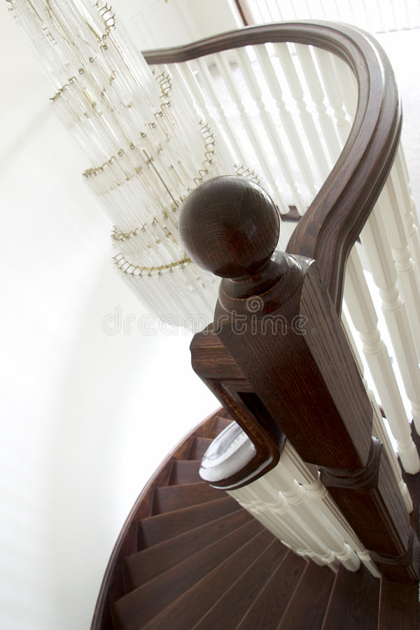 Download Newel Post And Spiral Staircase Stock Photo - Image: 15489284