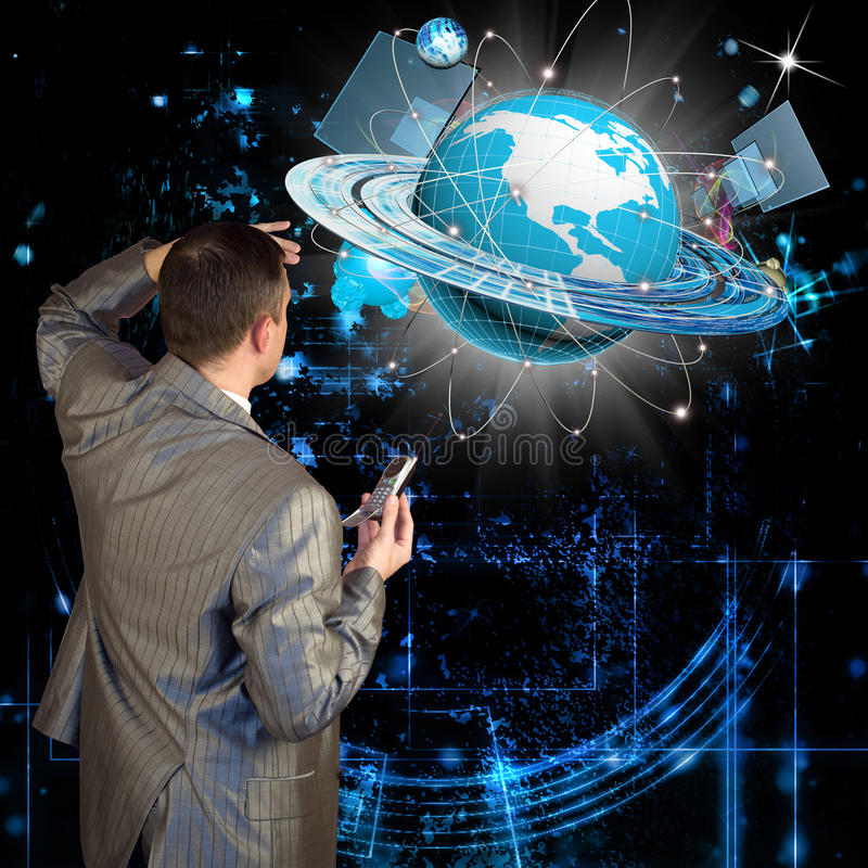 The newest Internet technologies. Digital communications stock images